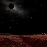lunar eclipse seen from the moon by Lucien Rudaux