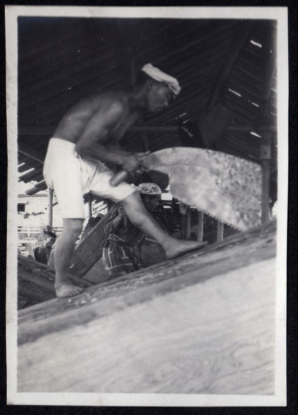 Sawing Wood from A Davey