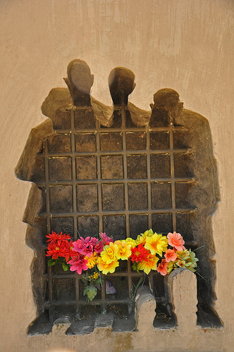 Memorial to prisoners of Syrets concentration camp by Jennifer Boyer