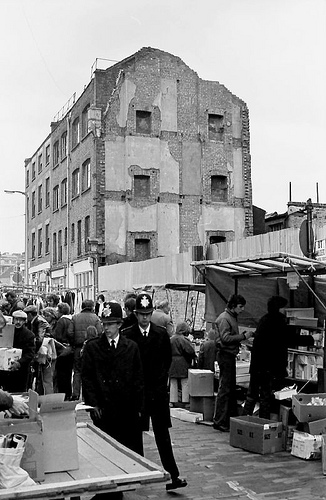 Sclater Street, Shoreditch, 1980 by nicksarebi